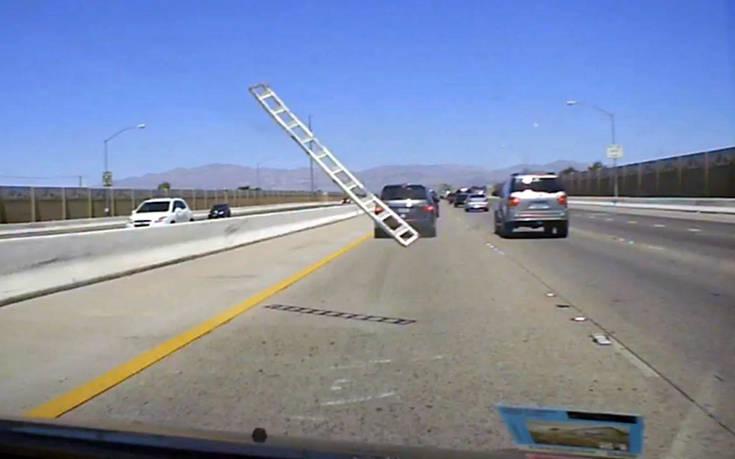 Οδηγός αντιμέτωπος με ουρανοκατέβατη σκάλα – Newsbeast