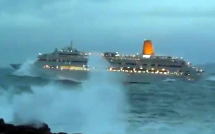 Κρουαζιερόπλοια εν μέσω θαλασσοταραχής