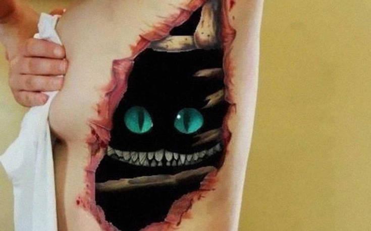 3D τατουάζ για τους πολύ ψαγμένους
